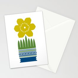 Nordic Yellow Flower Stationery Cards