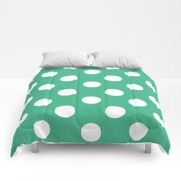 Polka Dots (White/Mint) Comforters