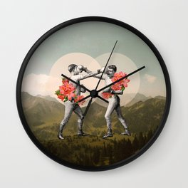 Foes before hoes. Wall Clock