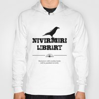 library Hoodies featuring Nevermore Library by Zooky