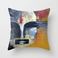 uncharted Throw Pillows featuring Glimpses from the Terabytical Depths of an Uncharted Mind by Rochana Dubey