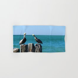 Two Old Guys On A Jetty Hand & Bath Towel