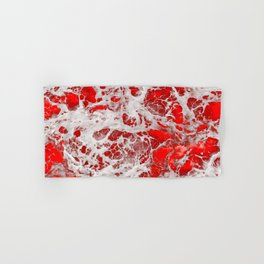 White Red Heart Tissue - Abstract Art Pattern - Oil painting Hand & Bath Towel