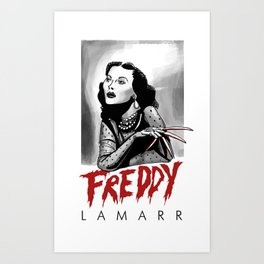 Freddy Lamarr Art Print