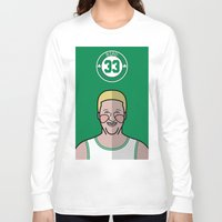 larry Long Sleeve T-shirts featuring Larry Bird by Will Wild