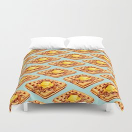 Waffle Pattern Duvet Cover