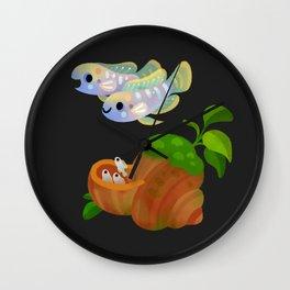 Shell Dwellers Wall Clock