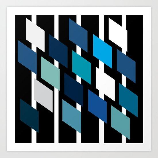 Diamond stripes Art Print