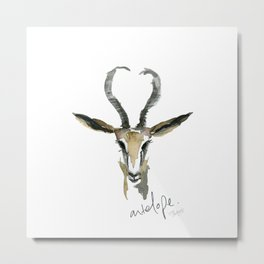 A is for Antelope Metal Print