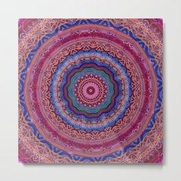 Colorful Agate Mandala Metal Print