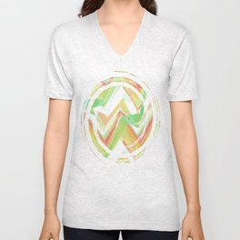 Summer Party Chevron Unisex V-Neck