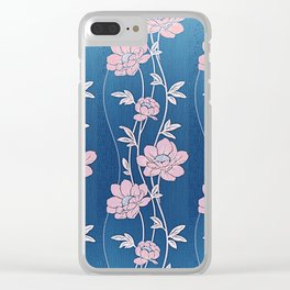 Rose Quartz Flower Garlands Clear iPhone Case