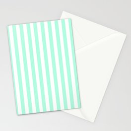 Cabana Stripes in Mint Stationery Cards