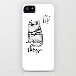 Funny Virgo Cat Zodiac September Shirt Birthday Gift iPhone Case