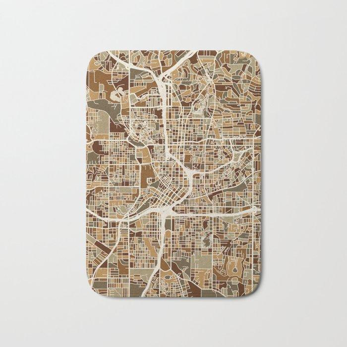 Atlanta Georgia City Map Bath Mat