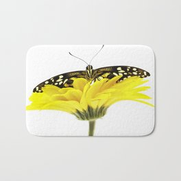 morpho menelaus on gerbera Bath Mat
