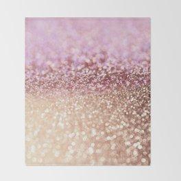 Mermaid Rose Gold Blush Glitter Throw Blanket