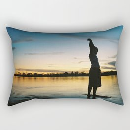 Female Body in the Amazon River Rectangular Pillow