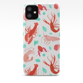 Dance of the Crustaceans in Pearl White iPhone Case