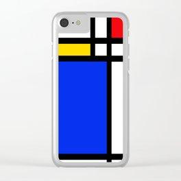 Mondrian Clear iPhone Case
