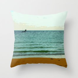 The Scene from the Shore Throw Pillow