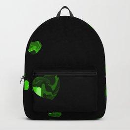 Chaotic Hearts Green Dapple Backpack