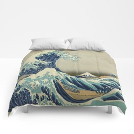 Vintage poster - The Great Wave Off Kanagawa Comforters