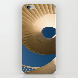 bottom view at twisted stairs iPhone Skin