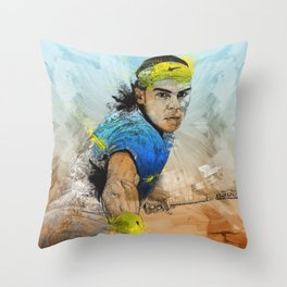 Rafa Nadal Throw Pillow