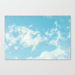 Perfect Blue Summer Sky Nature Photography Canvas Print