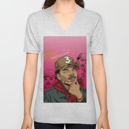 Chance The Rapper by kdxart Unisex V-Neck