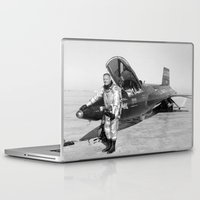neil gaiman Laptop & iPad Skins featuring Neil Armstrong by Planet Prints