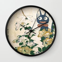 Jiji from Kiki's delivery service vintage japanese mashup Wall Clock