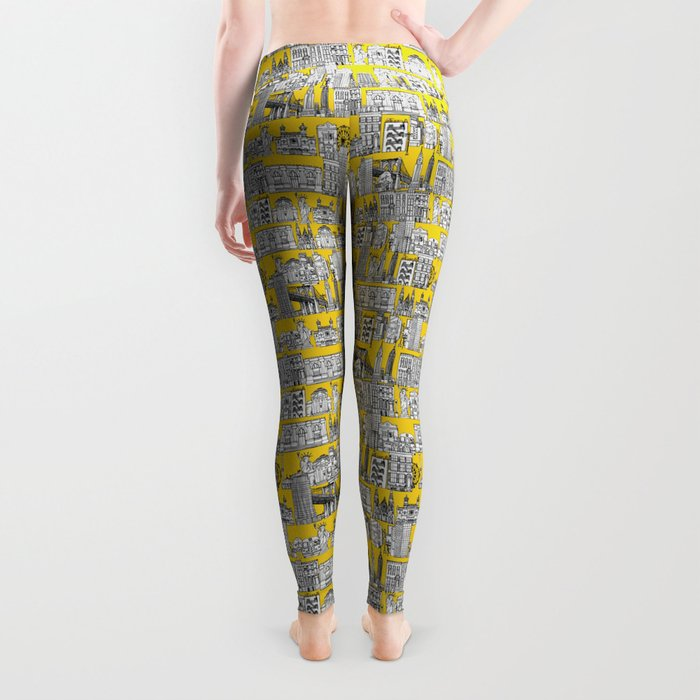 New York yellow Leggings