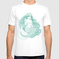 Flowers and Scales MEDIUM White Mens Fitted Tee