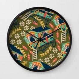 Gypsy Wagon Pattern Wall Clock