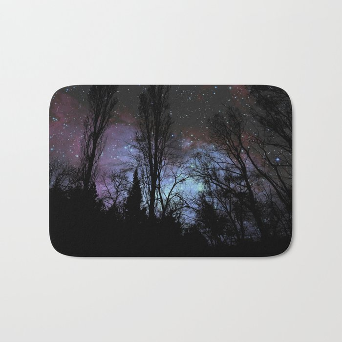 Black Trees Dark Space Bath Mat