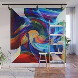 This Kiss Digital Abstract Art By Annie Zeno Wall Mural