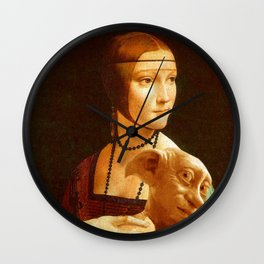 Lady With Dobby Wall Clock