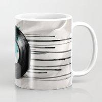 vinyl Mugs featuring infinity vinyl by Vin Zzep