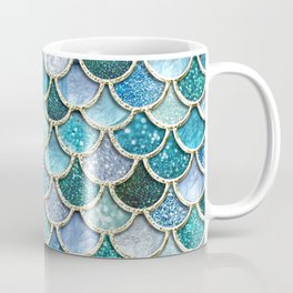 Multicolor Aqua Mermaid Scales - Beautiful Abstract Glitter Pattern Coffee Mug