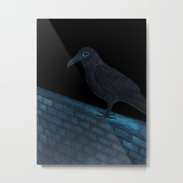 Raven Night Metal Print
