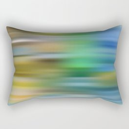 the blue color is arguing with the green color Rectangular Pillow