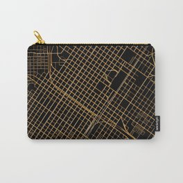 Black and gold Houston map Carry-All Pouch