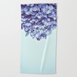 Floral fringe - french blue Beach Towel