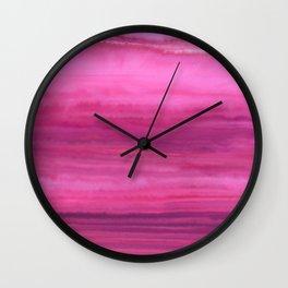 Waves - Sunset Wall Clock