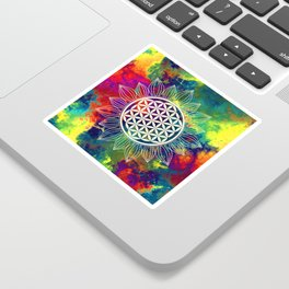 Flower Of Life (Lively World) Sticker