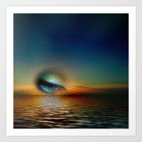 sundown surreal Art Print