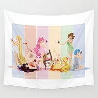 cupcakes Wall Tapestries featuring Sailor Moon Pinup - Cupcakes by CaptainLaserBeam