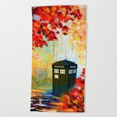 TARDIS PAINTING Beach Towel